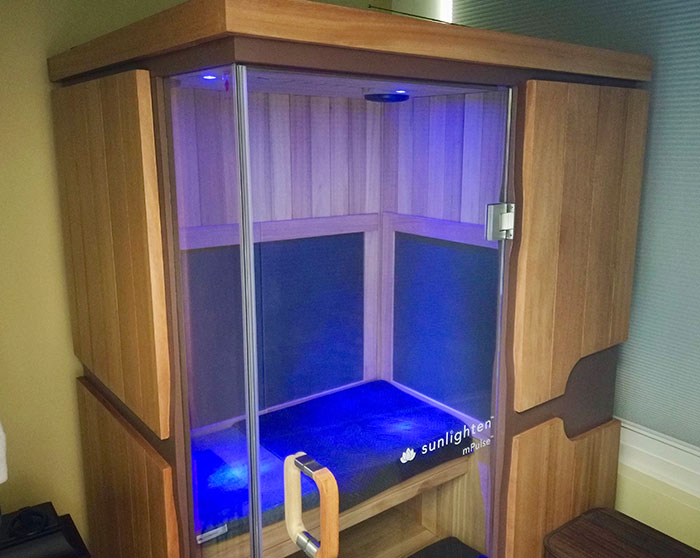 Sunlighten sauna in Greenwood, South Carolina